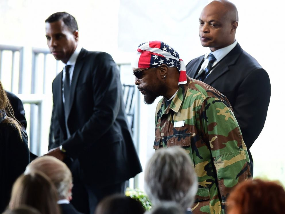 PHOTO: Mr. T arrives for the funeral service of US former First Lady Nancy Reagan, March 11, 2016, at the Ronald Reagan Presidential Library in Simi Valley, California.