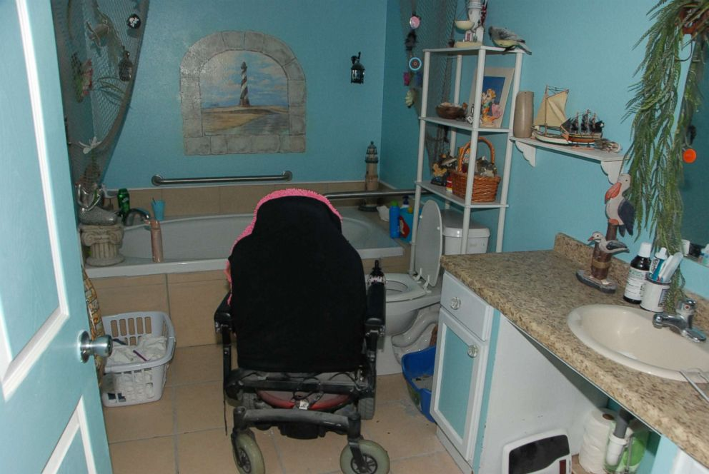 PHOTO: Gypsy Blanchards wheelchair is pictured here in the bathroom of the house she shared with her mother Dee Dee Blanchard.