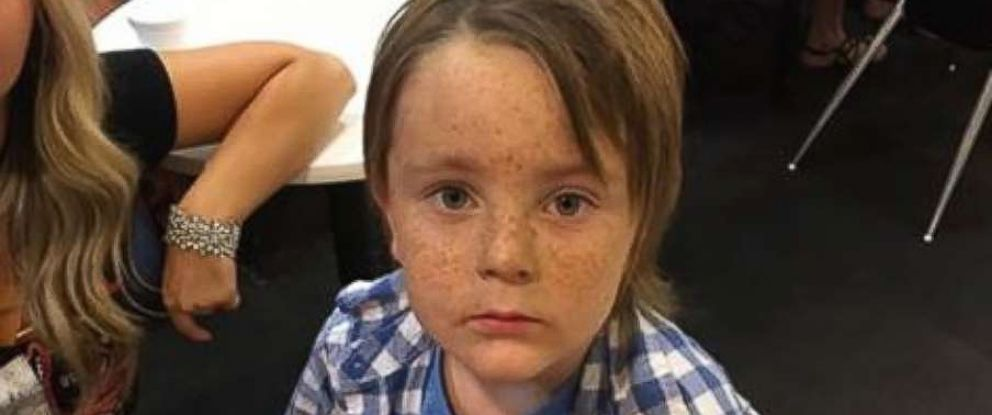A stranger, Chris Cunningham, posted this photo of Aden Huser, 5, on Facebook after he was separated from his family during the Las Vegas shooting.