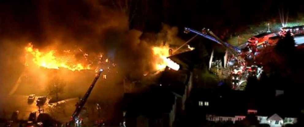 A fire at Barclays Friends Senior Living Community burned out of control late on Thursday night, Nov. 16, 2017.