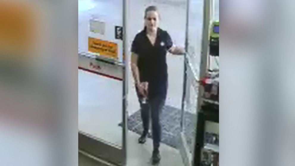 Surveillance cameras captured Allison Cope at a Shell gas station in Wake Forest, N.C., at approximately 4:15 p.m. ET on June 26, 2017.