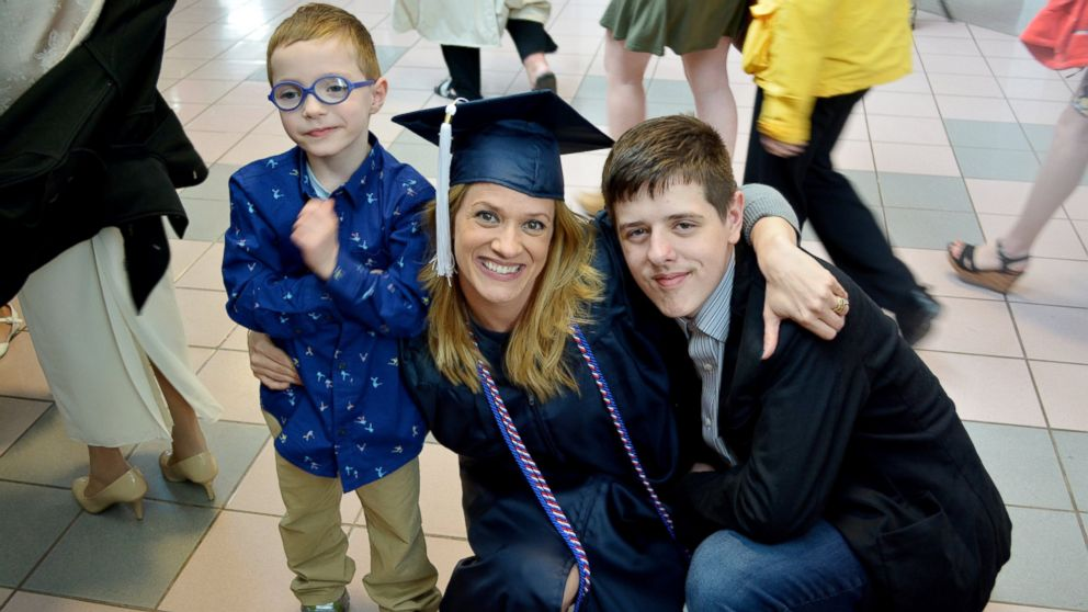 """GMA"" honored Danielle Joliet, a U.S. Army veteran and mother of two, after she graduated from Pennsylvania State University this year."