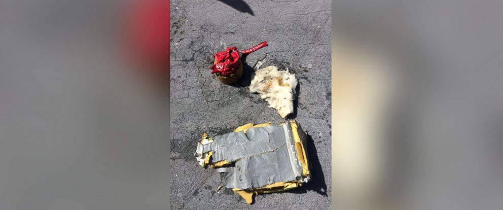 PHOTO: The Coast Guard says this image of debris, confirmed components of an MU-2B aircraft was recovered 15 miles E. of Eleuthera, Bahamas.