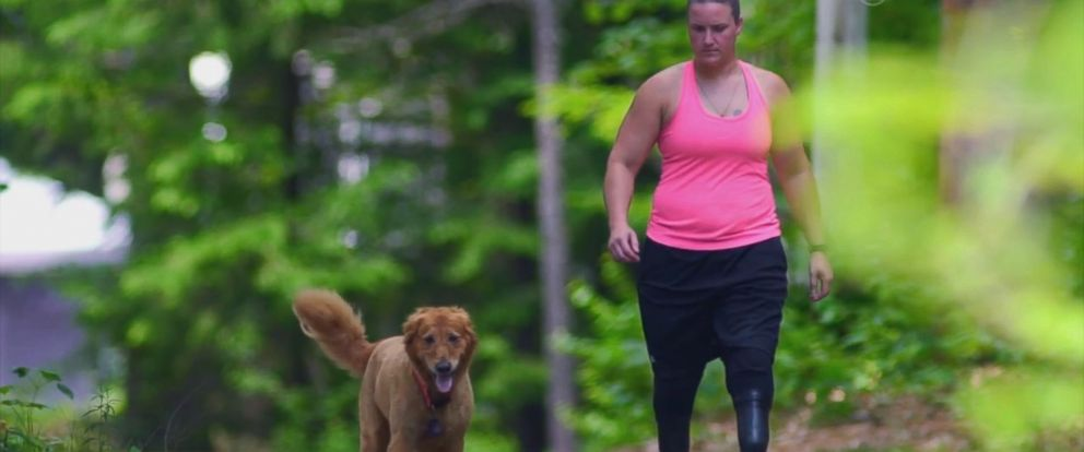 PHOTO: Army veteran Christy Gardner found her way back to an active life and sports thanks to a fellow veteran, her dog, Moxie.