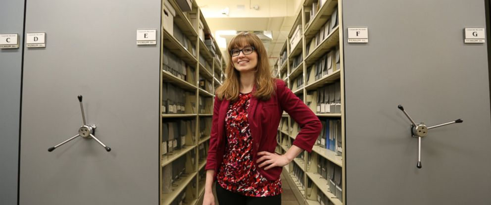 PHOTO: Historian Samantha Bradbeer pictured in Hallmarks Archive.