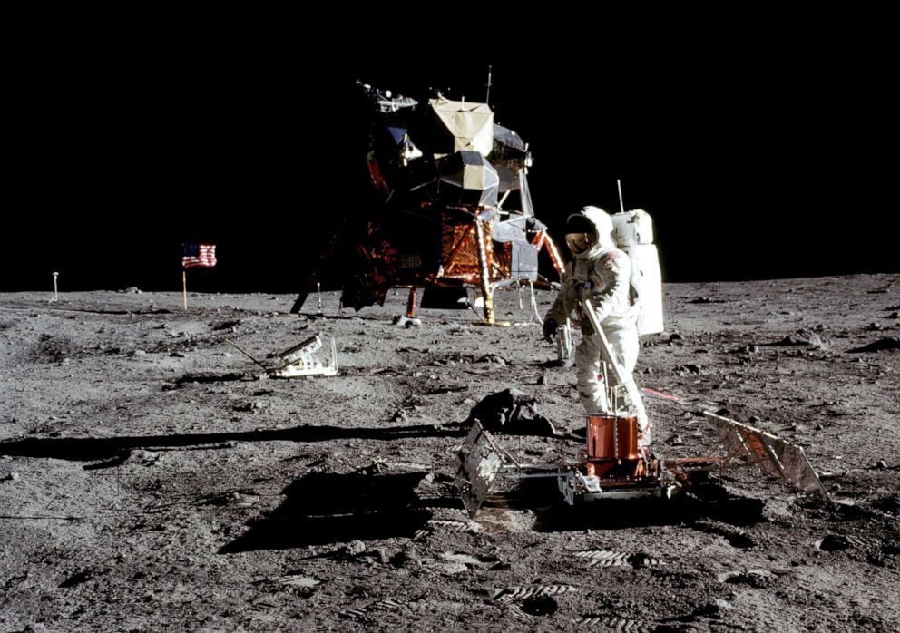 PHOTO: Apollo 11 astronaut Buzz Aldrin on the moon, July 20, 1969.