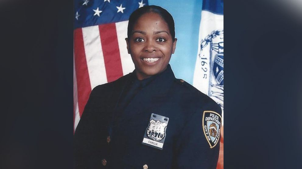 Officer Miosotis Familia, a 12-year veteran assigned to the New York City Police Department's 46th Precinct's Anti-Crime unit, was fatally shot, July 4, 2017.