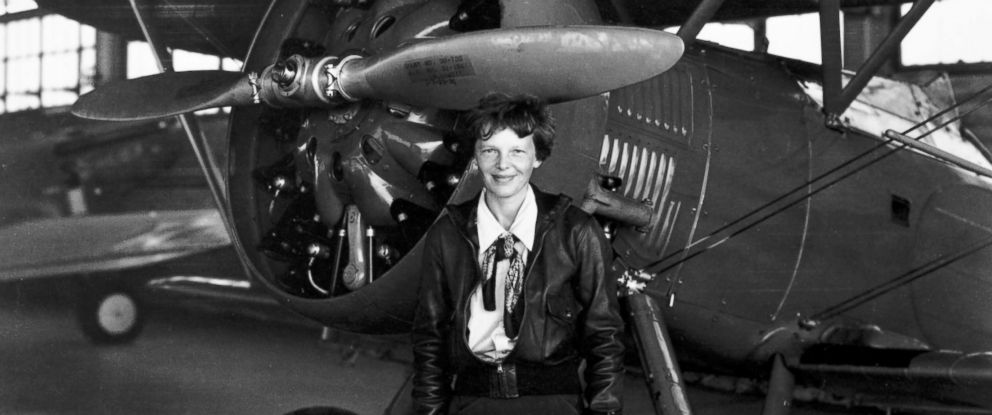 "PHOTO: Amelia Earhart poses in front of a plane. HISTORY is airing the two-hour special ""Amelia Earhart: The Lost Evidence"" on July 9, 2017, unveiling original documents and new information about the fate of the aviator."
