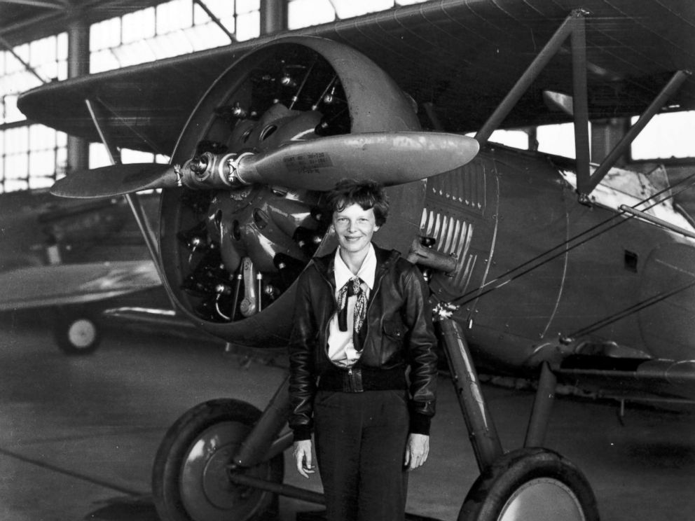PHOTO: Amelia Earhart poses in front of a plane. HISTORY is airing the two-hour special Amelia Earhart: The Lost Evidence on July 9, 2017, unveiling original documents and new information about the fate of the aviator. <p itemprop=