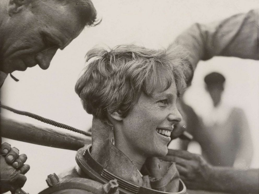 PHOTO: This photo, dated July 25, 1929, on the back shows Amelia Earhart preparing to go diving off Block Island. HISTORY is airing the two-hour special Amelia Earhart: The Lost Evidence on July 9, 2017.