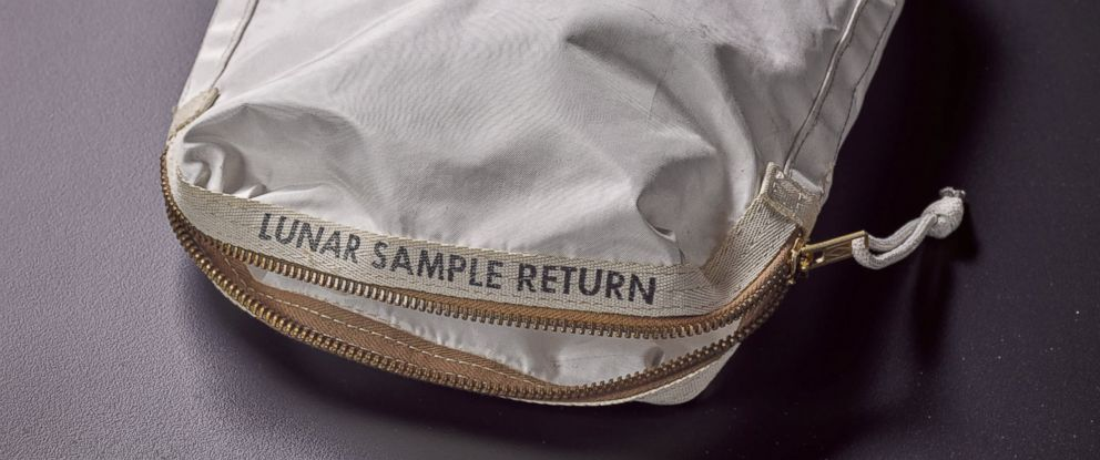 PHOTO: A lunar sample bag that contains moon dust from Apollo 11 will be on auction at Sothebys in New York on July 20, 2017.