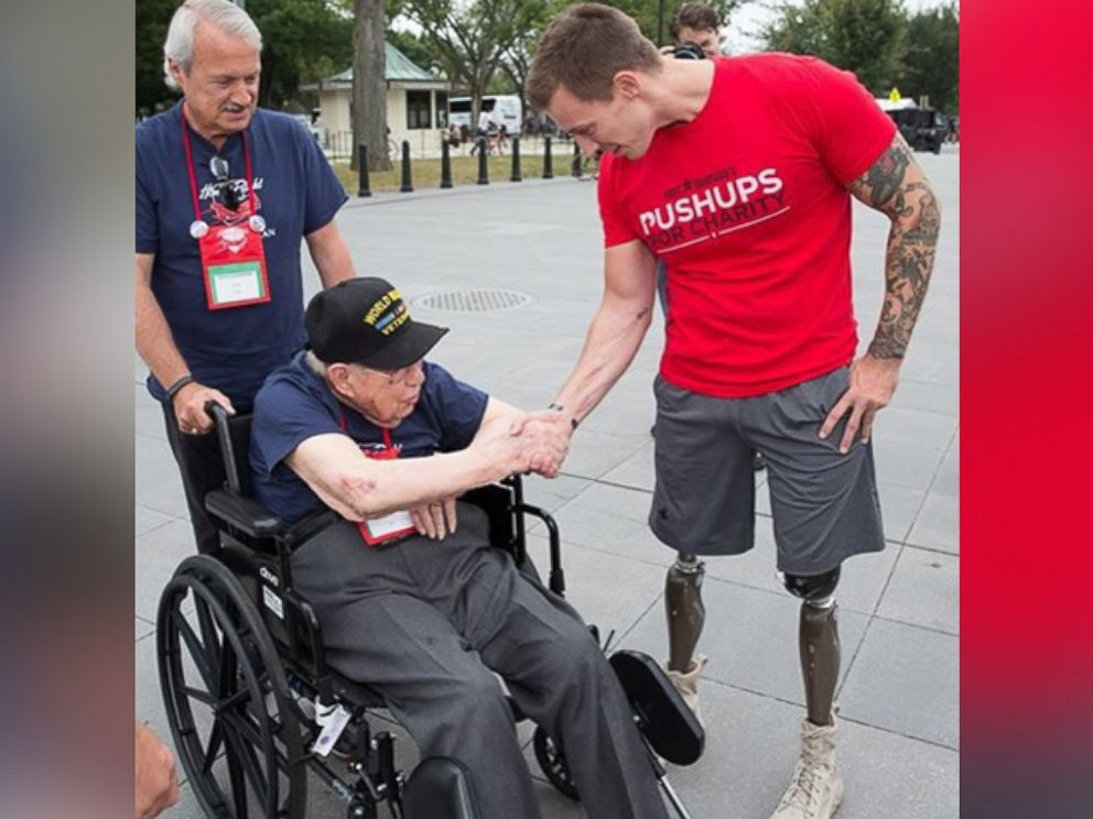 PHOTO: Former U.S. marine, Sgt. Joey Jones, lost both of his legs in Afghanistan, but found new purpose in life and shares his inspirational journey with veterans.