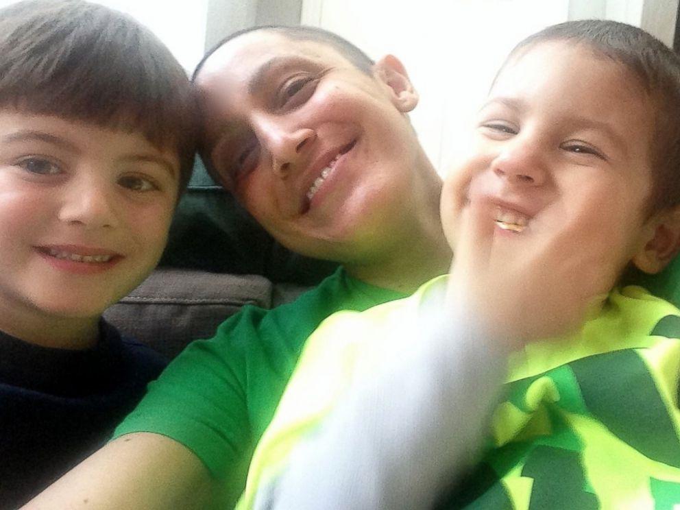 PHOTO: Amanda Petersen with her two young nephews. Petersen has metastatic breast cancer.