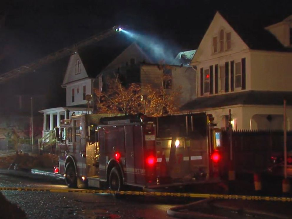 PHOTO: Firefighters are at the scene of a house fire in Baltimore, Maryland, Jan. 12, 2017.