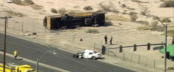 16 children in hospital, motorist dead, after school bus crash in