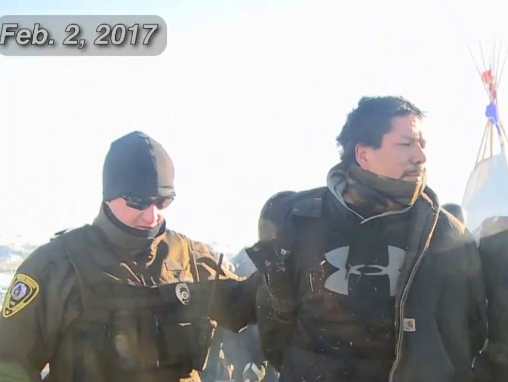 PHOTO: The Morton County Sheriffs Department posted a video of them clearing a protest group in North Dakota after they set up camp on private property.
