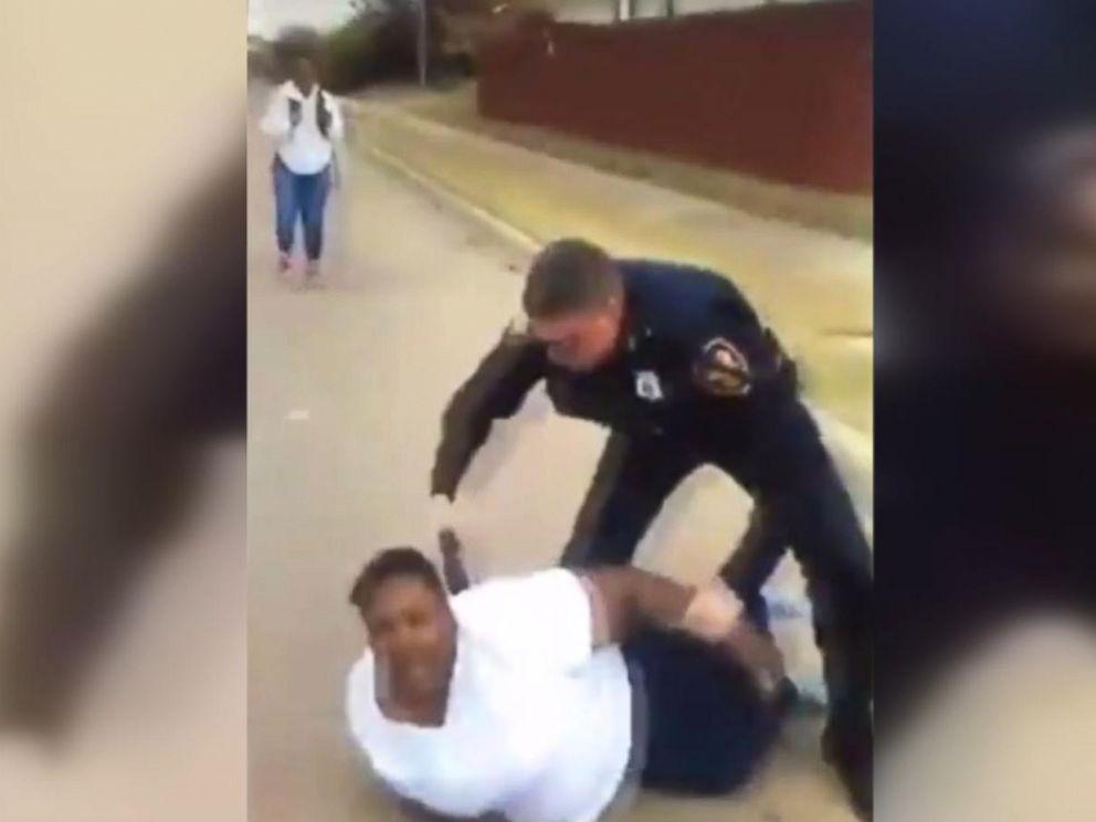 PHOTO: Cellphone video shows Fort Worth Police Officer William Martin arresting Jacqueline Craig on Dec. 21.