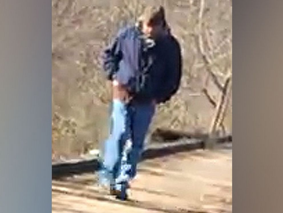 PHOTO: A photograph provided by the Indiana State Police of a subject who was on the Delphi Historic Trails, Feb. 13, 2017 around the time Abigail Williams and Liberty German were walking.