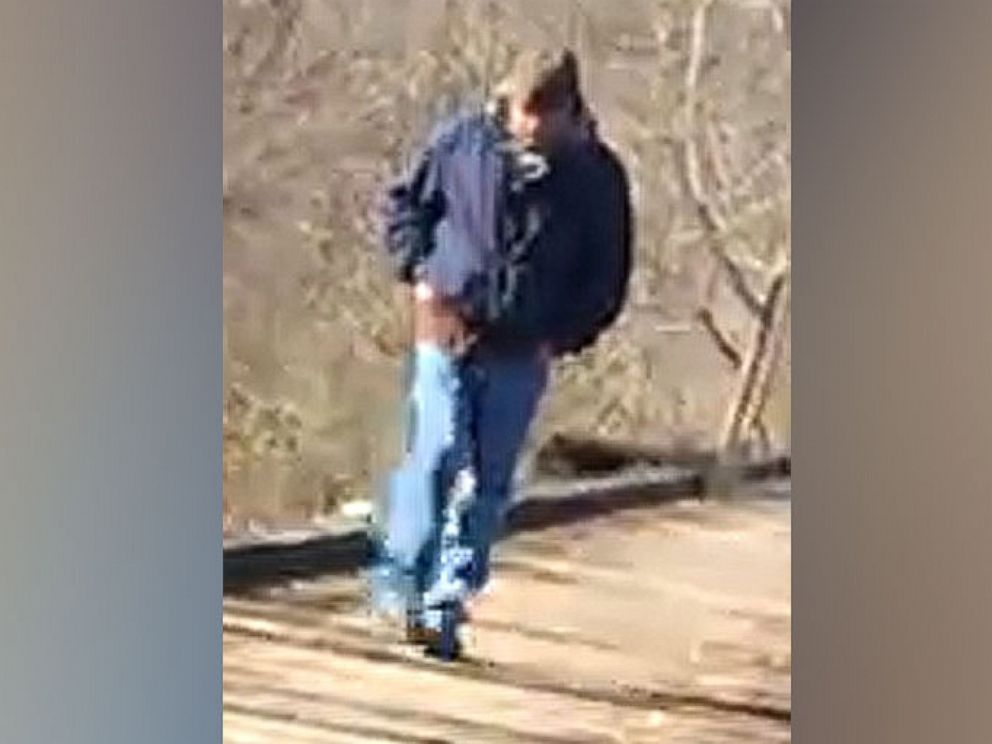 PHOTO: A photograph provided by the Indiana State Police of a subject who was on the Delphi Historic Trails, Feb. 13, 2017, around the time Abigail Williams and Liberty German were walking.