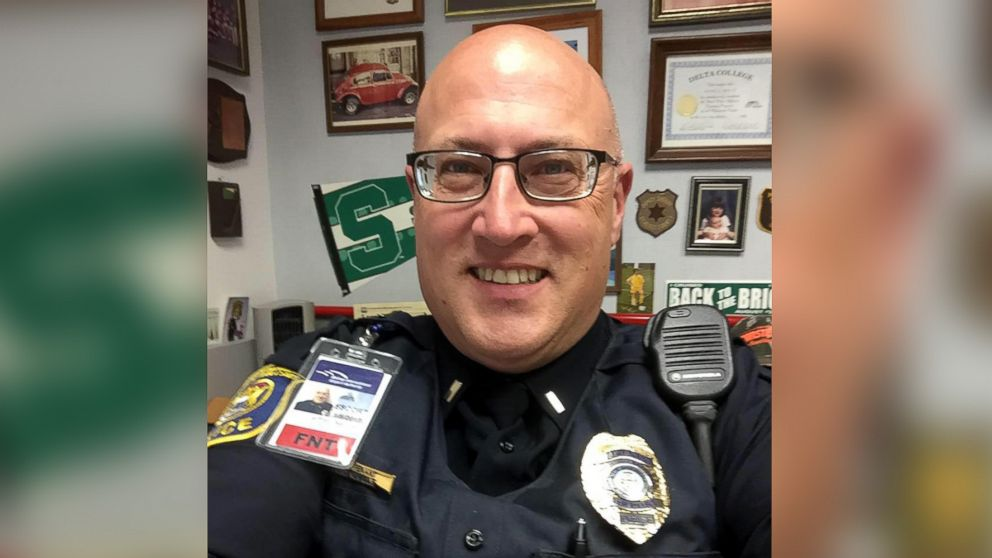 Lt. Jeff Neville, an airport police officer at Bishop International Airport in Flint, Michigan, was stabbed at the airport on June 21, 2017.
