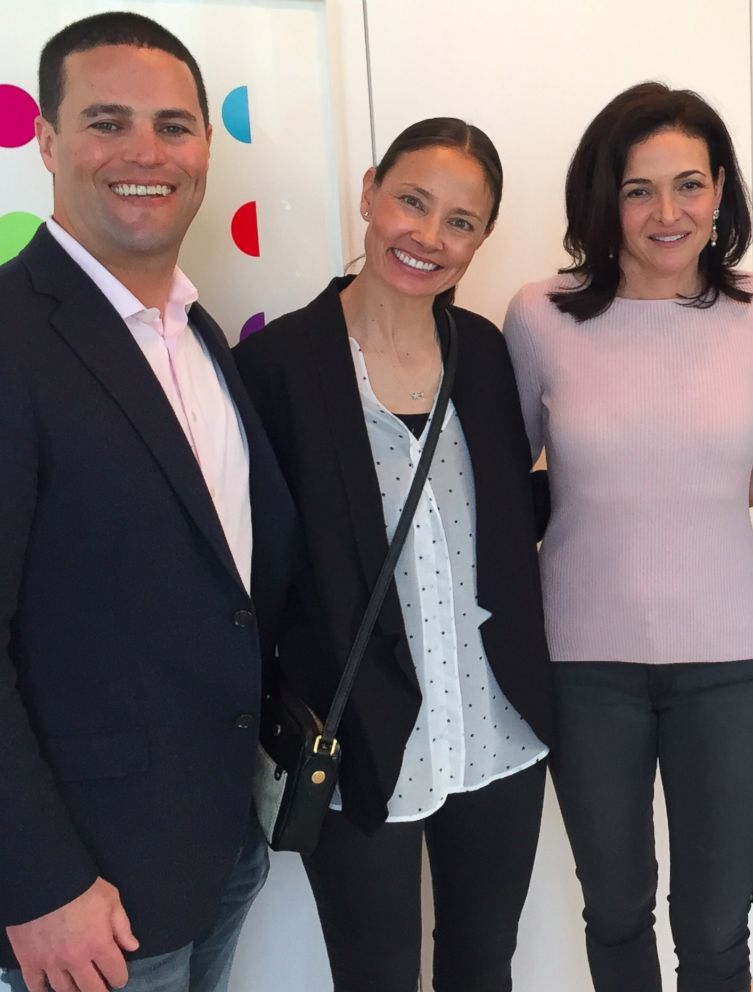 PHOTO: Kevin and Marina Krim pose with Sheryl Sandberg at a book signing for Sandbergs new book, Option B: Facing Adversity, Building Resilience, and Finding Joy.