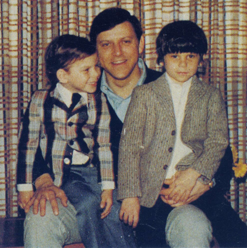 Jose Menendez pictured with his sons, Erik, left, and Lyle.