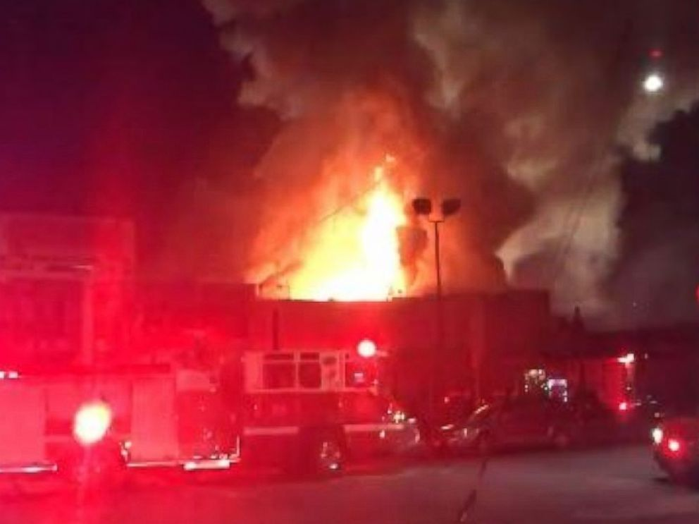 PHOTO: Oakland Firefighters posted video to Twitter, Dec. 3, 2016, showing a large fire that broke out at a building in Oakland, California, overnight at approximately 11:32 p.m.