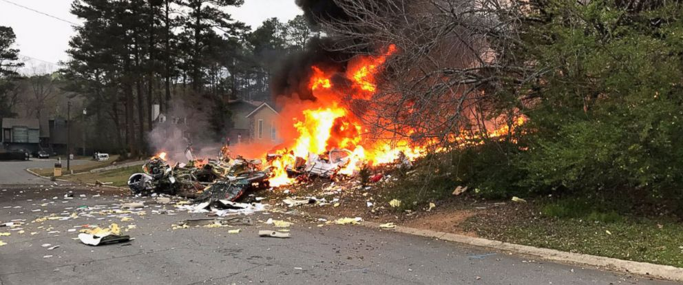 PHOTO: A plane crashed in Kennesaw, Ga., March 24, 2017.