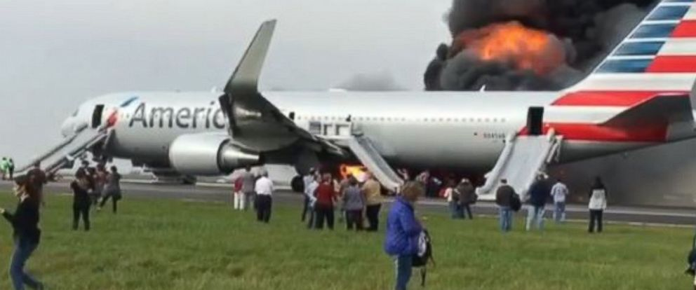20 Injured After American Airlines Plane Catches Fire at