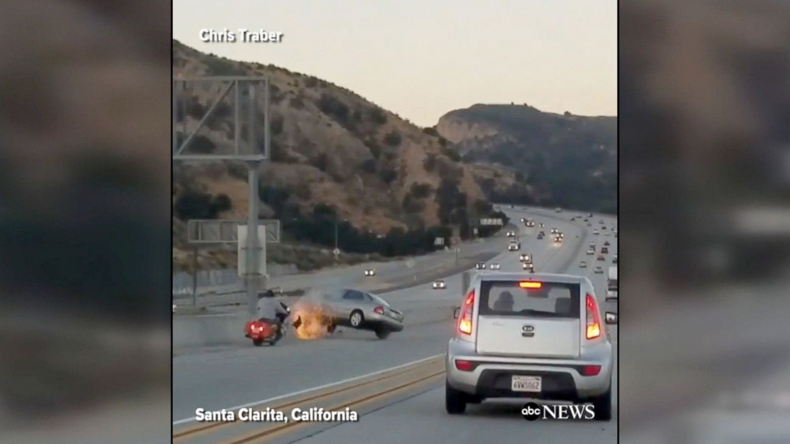 Dramatic Shows Alleged Road Rage Incident On California Highway Abc News