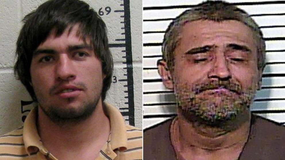 Matthew Ryan Wallace, 27, left, and Charles Edward Martin, 50, were both arrested for arson on separate incidents in connection with wildfires in Tennessee.