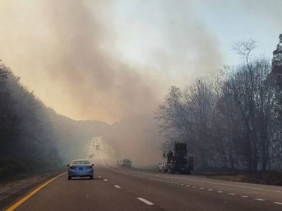 PHOTO: Jairaj Swann posted this photo to Instagram, Nov. 14, 2016, while traveling on Route 75 going south over the Tennessee-Kentucky border.