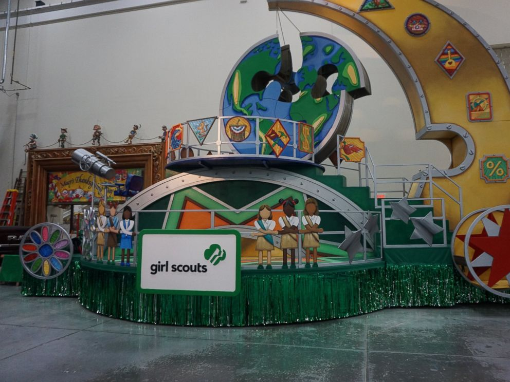PHOTO: Building a Better World Girl Scouts of the USA float which will appear for the first time in the Macys Thanksgiving Day Parade 2016.