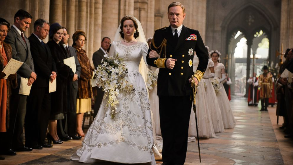 """Claire Foy and Jared Harris on Netflix's """"The Crown."""""""