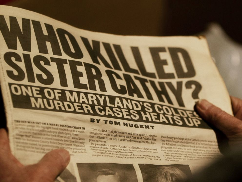 PHOTO: Abbie Scahub said it was a 2005 article published in the Baltimore City Paper titled, Who Killed Sister Cathy? written by Tom Nugent, that brought the case back to life for her and Hoskins.