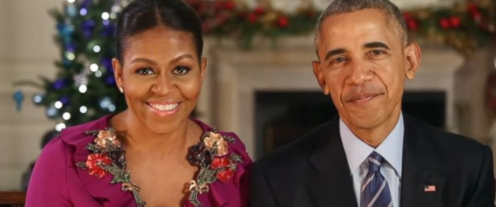 PHOTO: President Obama and first lady Michelle Obama wish all Americans a Merry Christmas and Happy Holidays in this weeks address, Dec. 24, 2016.