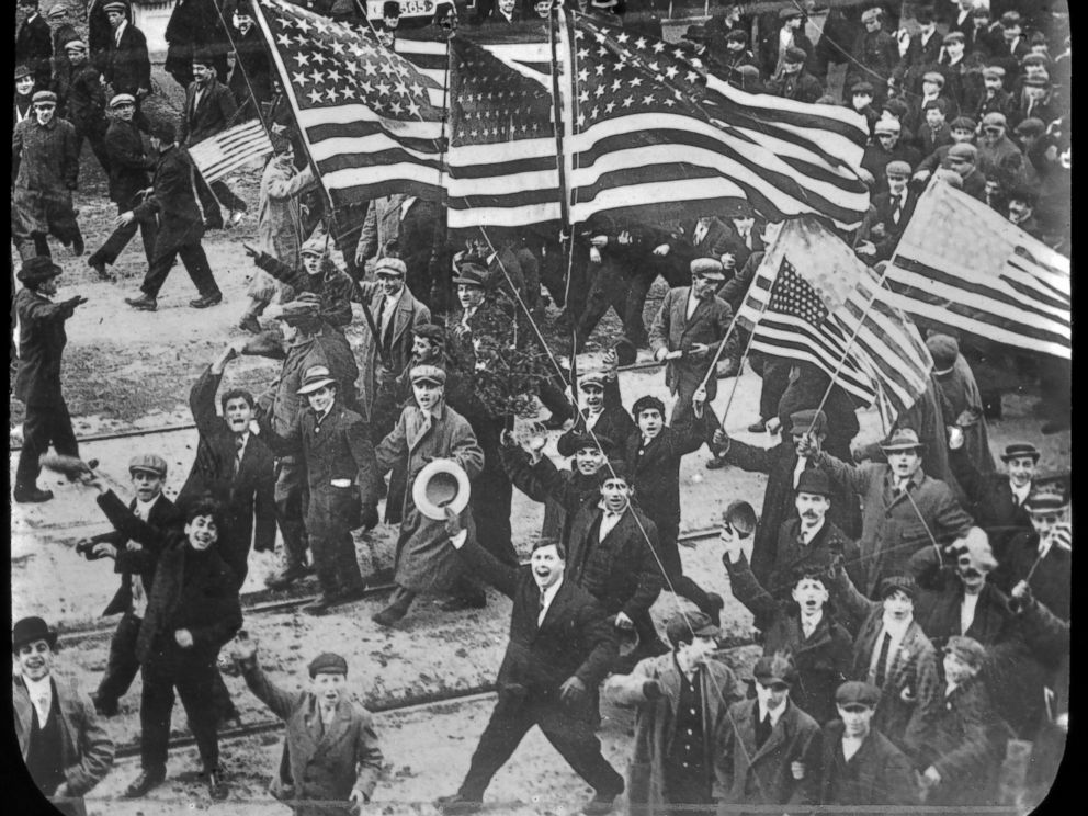 PHOTO: Parade through the streets upon the strikers victory, 1912, Lawrence, Mass.