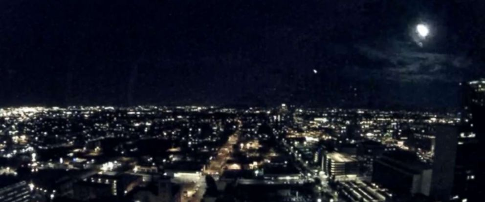 PHOTO: Officials in Phoenix, Ariz. share an image of what appears to be a meteor flashing across the sky.