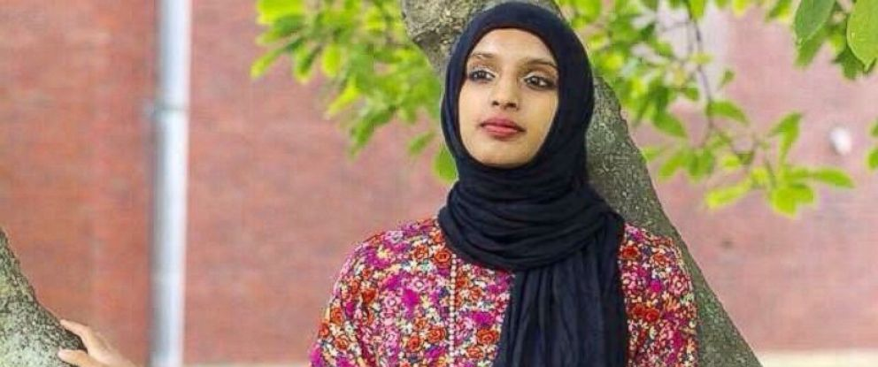 """PHOTO:Amara Majeed tells """"GMA"""" why she wrote to Donald Trump and started the Hijab Project."""