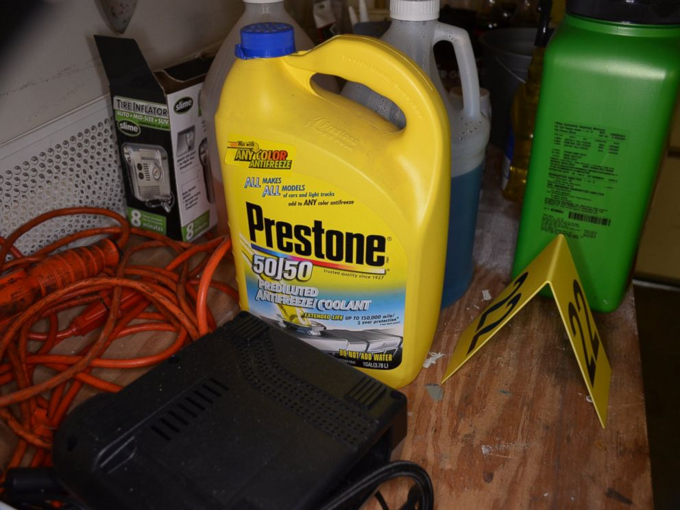PHOTO: Anti-freeze found in Diane Staudtes home is pictured in this police evidence photo.
