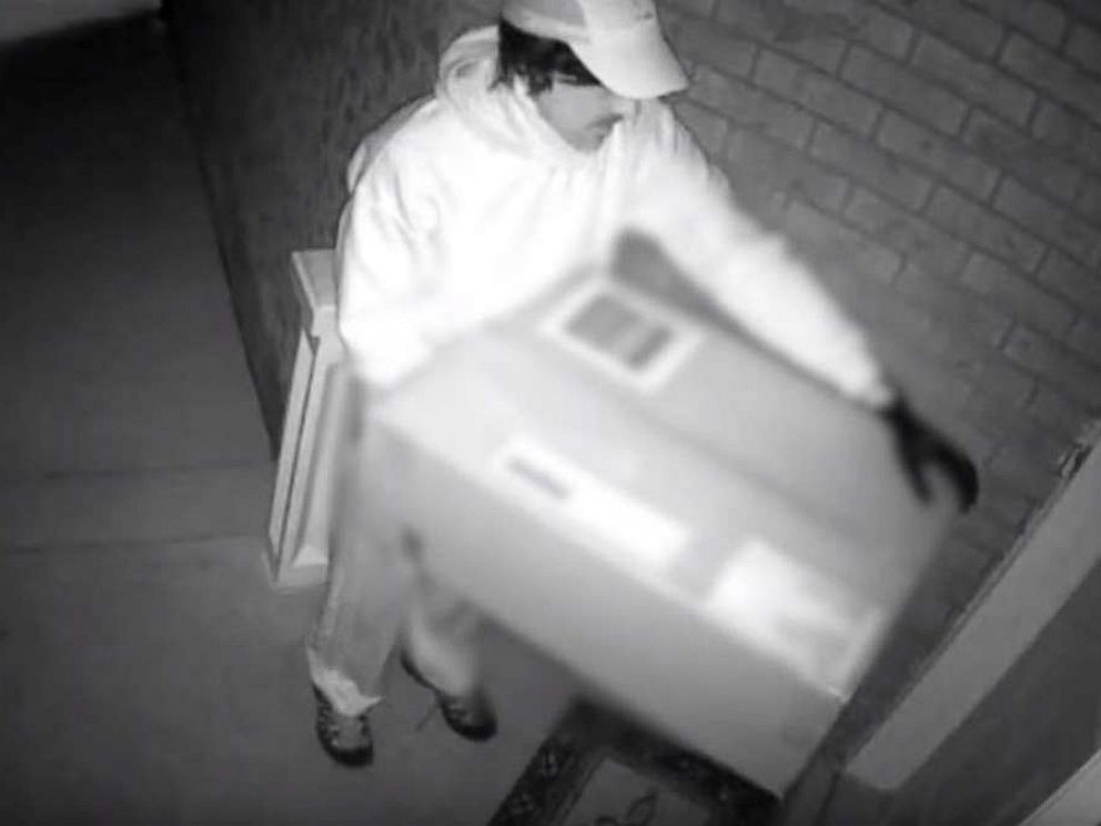 PHOTO: Canadian authorities released surveillance footage on Monday, April 15, 2019, showing a suspect who shot a woman with a crossbow on her front porch.