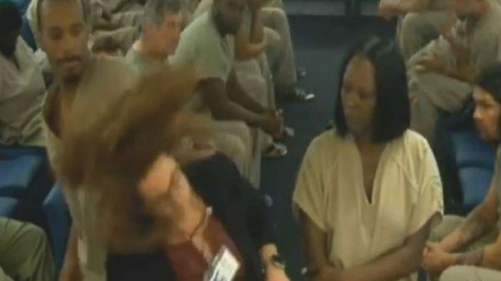 A Florida defense attorney was rushed to the hospital on Wednesday after an inmate punched her in the head.