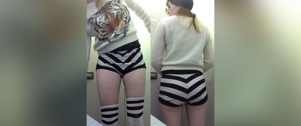PHOTO: A burlesque dancer who goes by the stage name Maggie McMuffin was told by a JetBlue Airways crew member to change her outfit before boarding the Seattle-bound Boston flight on May 18, 2016.