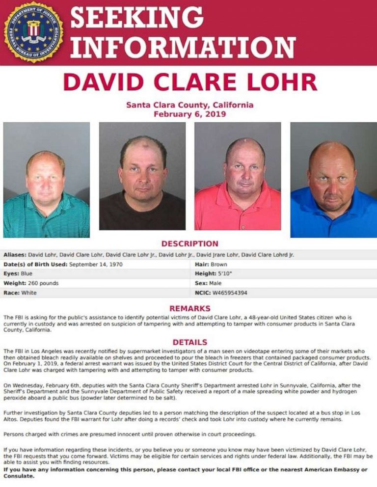 PHOTO: David Lohr, 48, was arrested in Northern California on Wednesday, Feb. 6, 2019.