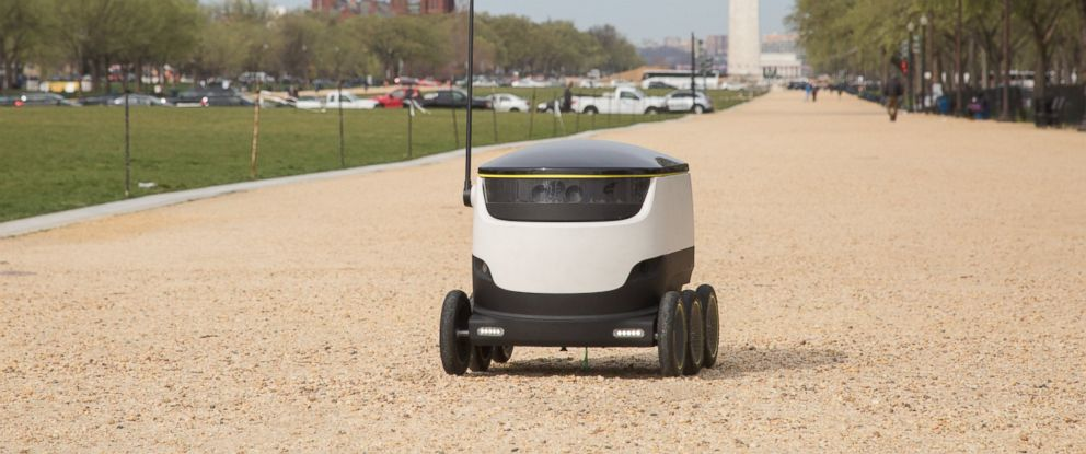 PHOTO: Starship Technologys delivery robot is pictured in this undated photo in Washington.