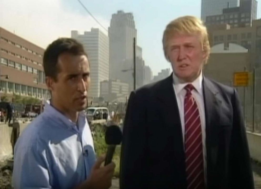 PHOTO: In this screen grab from a video posted to YouTube by bachenheimer2011, Donald Trump gives an interview right after the terror attacks of 9/11, in New York.