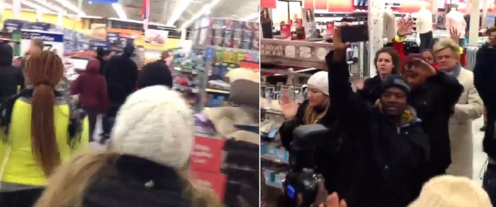 Protesters visited Walmart and Target stores in the St. Louis area, Nov. 27-28, 2014.