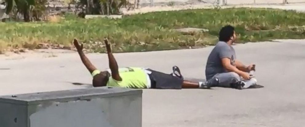 PHOTO: Video shows the moments before police shoot an unarmed black man in North Miami, Florida, on July 18, 2016.