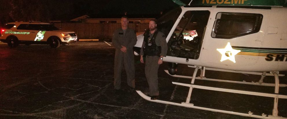 PHOTO: The Pasco County Sheriff's Office pilots shares an image of two pilots who helped catch a man who flashed a laser at them from the ground.