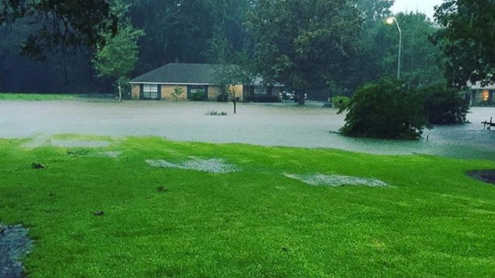 A photo posted on Friday, Aug. 12 2016, shows major flooding in Southeast Louisiana.